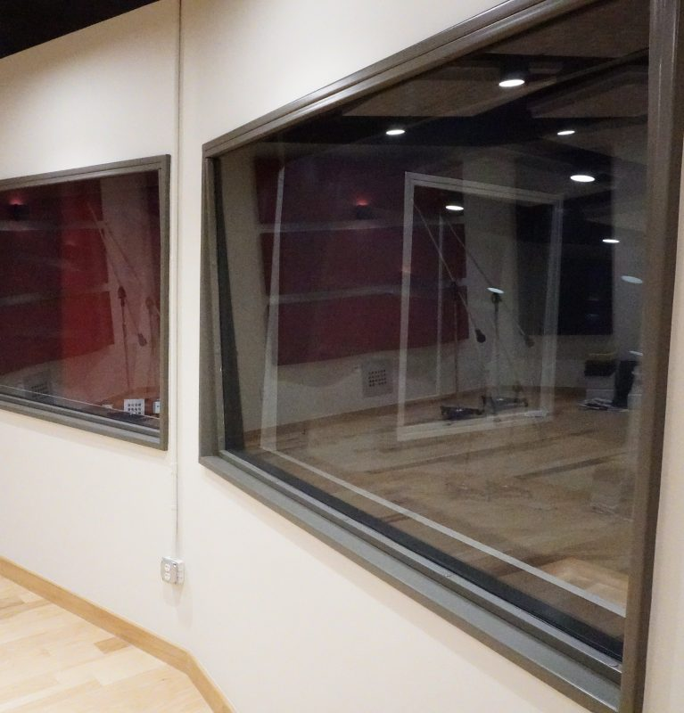 Audio studio windows